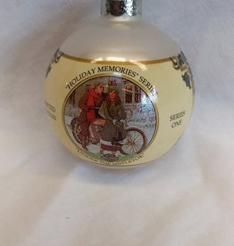 """Under The Mistletoe"" Harley Davidson Christmas Ornament, 1994"