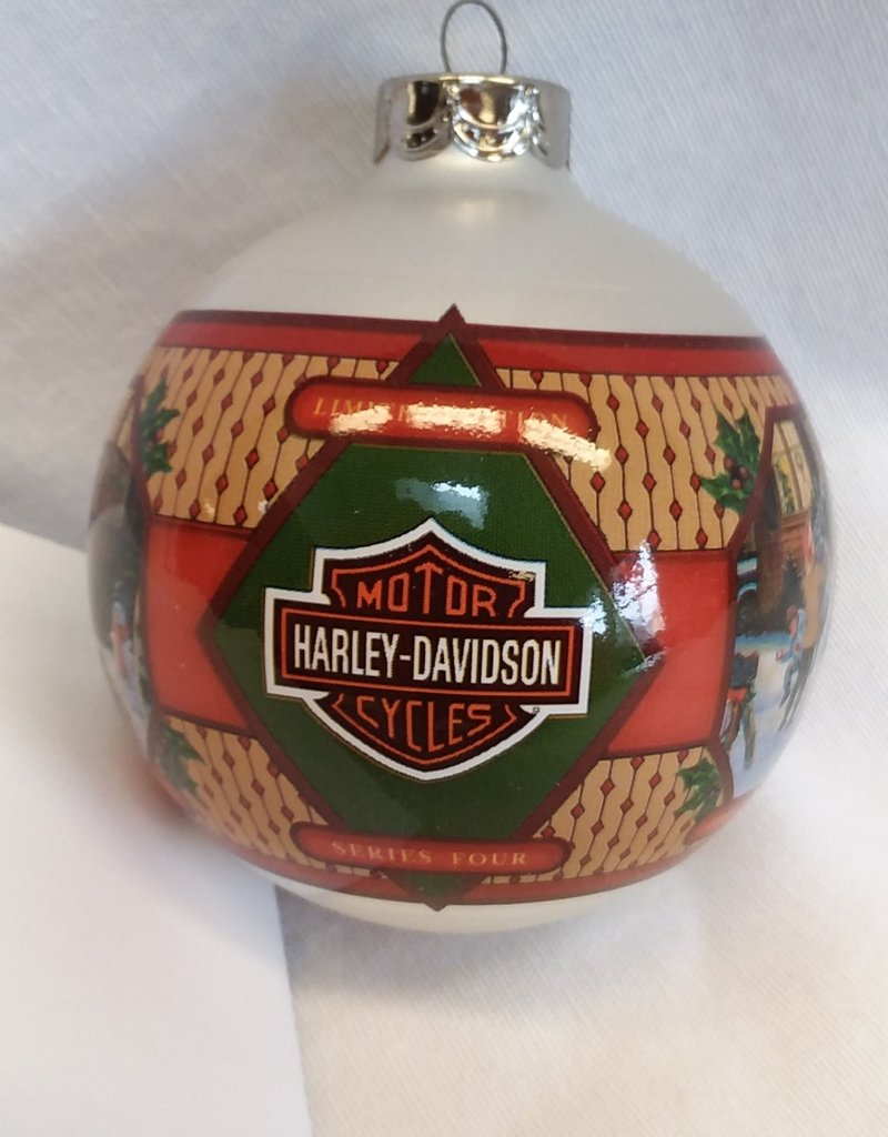 """Deck The Harley"" Harley Davidson Christmas Ornament, 2002"