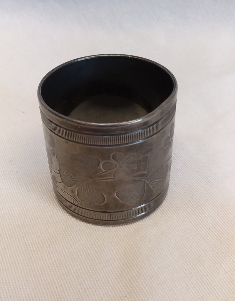 "Non-magnetic Napkin Ring, 1 5/8""x1 5/8"", E.1900's"