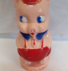 "Ideal 6"" Plastic Standing Pig ""Piggy Bank"", 1950's"