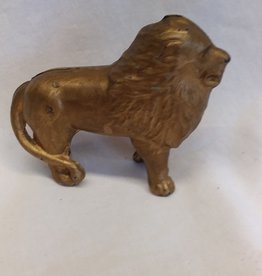 Cast Iron Gold Painted Lion Bank, m.1800's, 4'x5'
