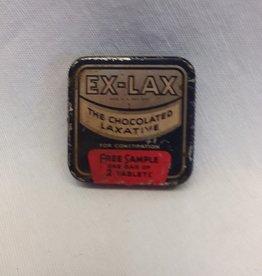 "Ex-Lax Free Sample Tin, 1930's, 1.5x1.5"""