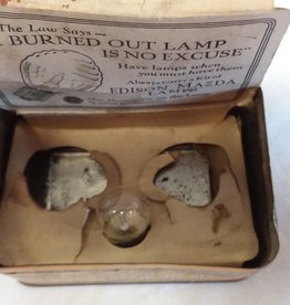 Mazda Lamps Advertising Tin, w/1 Unused Bulb, No Cover, 1930's