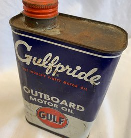 Vintage Gulfpride Outboard Motor Oil Tin (Unopened & Full), c.1960