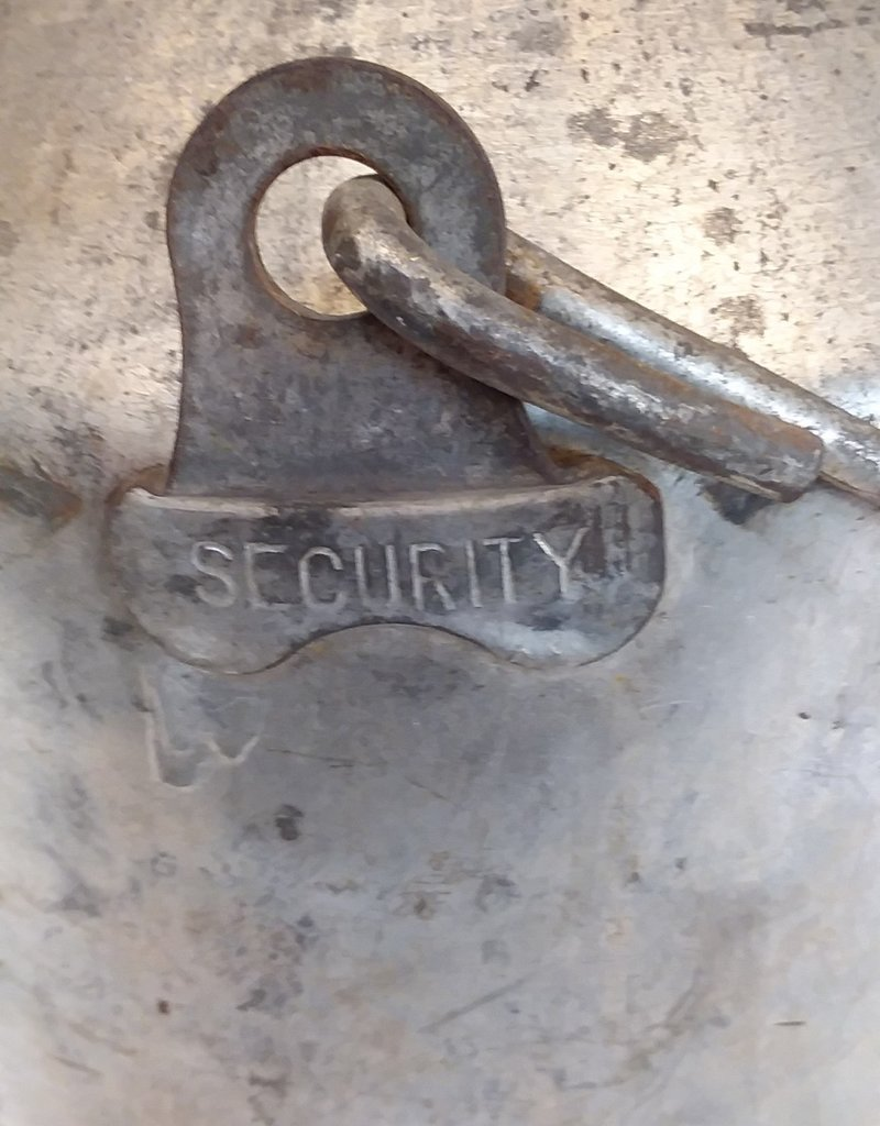 Galvanized Cream Can, Security, 10 Quart, c.1940