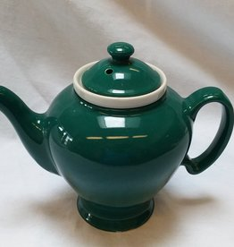Hall China Co. McCormick Tea 4-cup Teapot w/Infuser, Hall China Co., 1960's