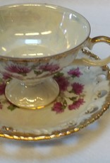 Purple Aster Cup & Saucer Set