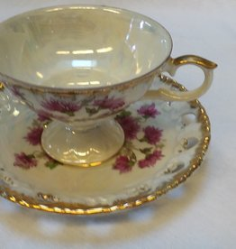 Purple Aster Cup & Saucer Set