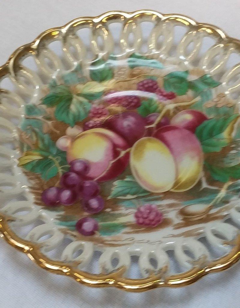 Fruit Design, 3 Legged Cup & Saucer