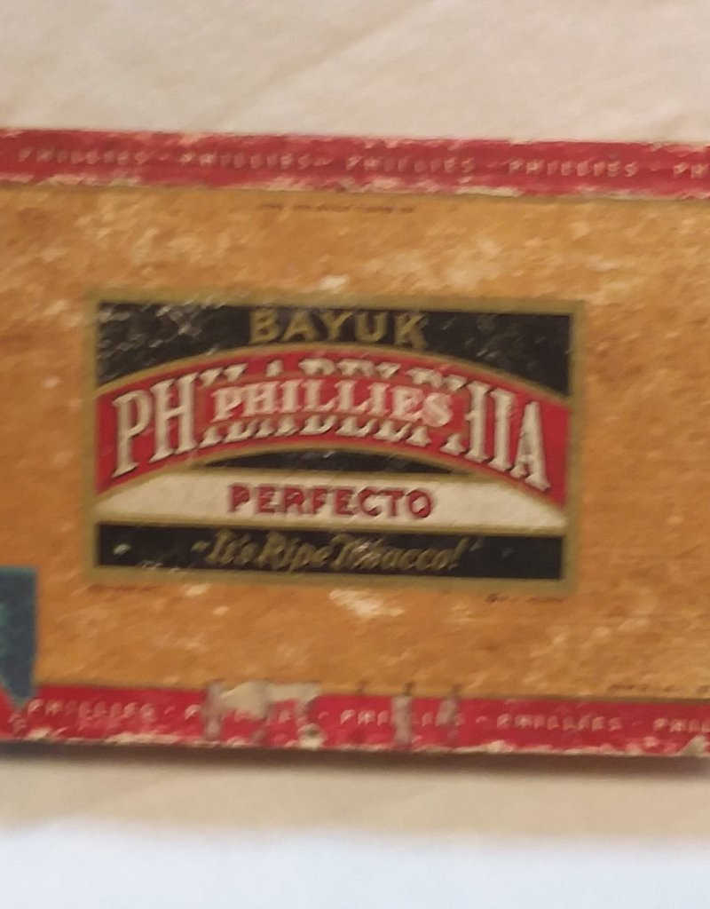 Phillies Perfecto Cigar Box, c. 1930's