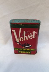 Velvet Pipe & Cigarette Tobacco Tin, SEALED,