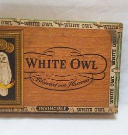 "White Owl Invincible Cigar Box, 8.5x6x1.25"", c.1960"
