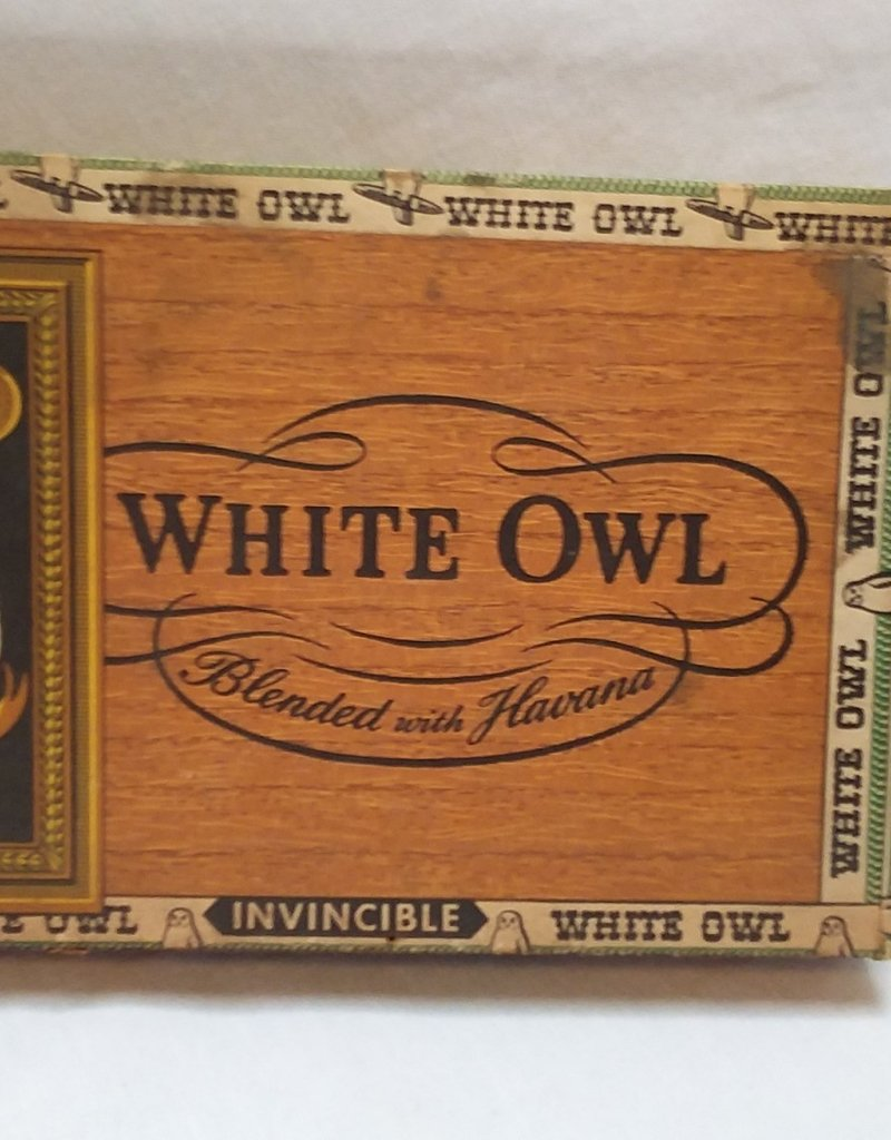 "White Owl Invincible Cigar Box, 8.5x6x1.25"", c.1960"