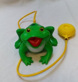 "Fisher Price Leaping Frog Toy (Works), 6"", L.1970's"