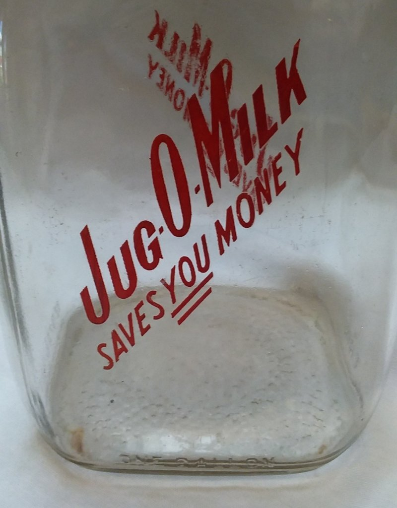 Jug O Milk, 1 Gallon Glass Milk Bottle