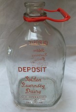 Golden Guernsey Dairy Glass Milk Bottle, 1 Gallon