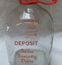 Golden Guernsey Dairy Glass Milk Bottle, 1 Gallon