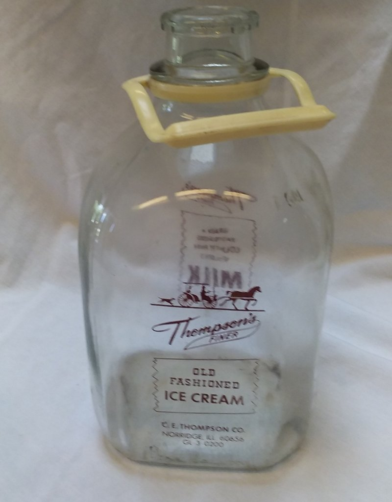 Thompson Dairy Glass Milk Bottle, 1 Gallon