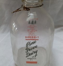 Pine Grove Dairy Glass Milk Bottle, 1 Gallon
