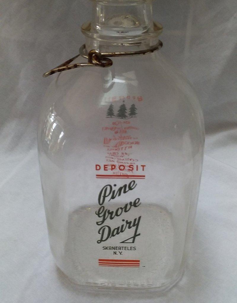 Pine Grove Dairy Glass Milk Bottle, 1 Gallon