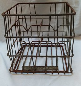 "Borden's Heavy Wire 4-1 Gallon Milk Bottle Carrier, 13X13X12"", 1961"