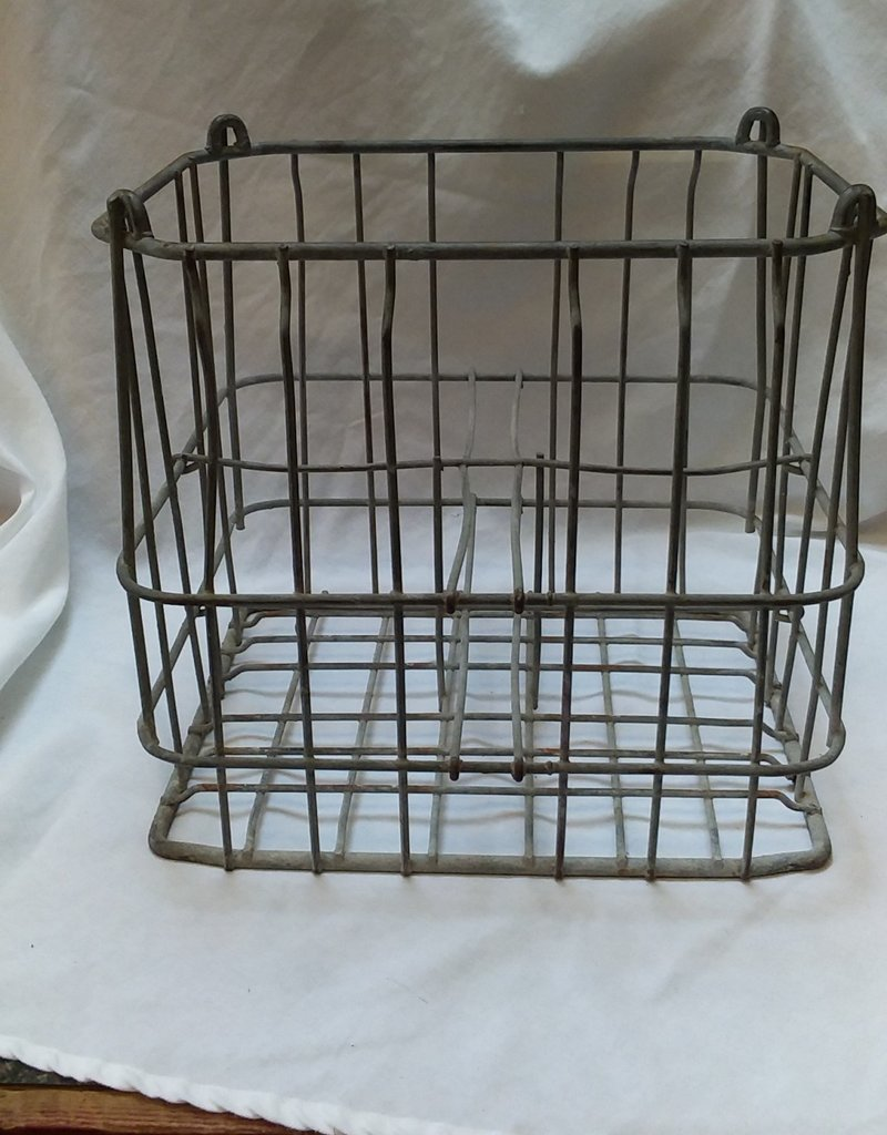 Galvanized Heavy Gauge Wire 4-1 Gallon Milk Bottle Crate, 15x12x14""