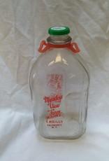 Meadow View Farm Milk Bottle, 1/2 Gallon
