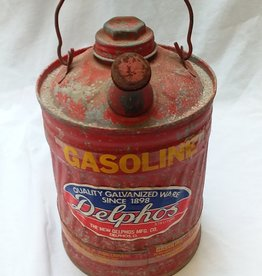Delphos Red Gas Can, 1 Gallon, c.1940's-50's