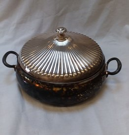 "Gorham Electo-plate Serving Dish, w/cover, 10"" C.1930"