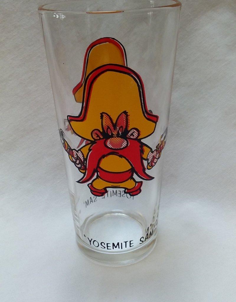 """""""Yosemite Sam"""" Character Drinking glass, 6.25"""", 1973"""