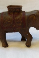 "Cast Elephant Bank (Repro), 7"", C.1950's-60's"