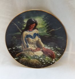 """Wild Flower"" Collectible Plate, 8.25"", 1993"