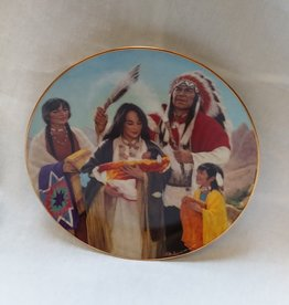 """The Naming Ceremony"" Collectible Plate, 8.25"", 1991"