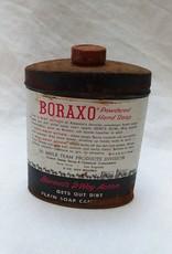 Boraxo Powdered Hand Soap Tin, Partly Full, 8 oz. c. 1950