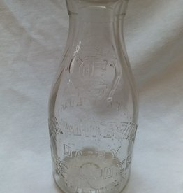 Meadow Brook Dairy Embossed Milk Bottle, Quart, 1940's