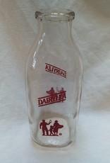 DAIRYLEA Pyro Milk Bottle, Quart, c.1960