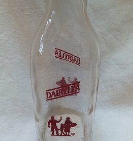 DAIRYLEA Pyro Milk Bottle, Quart, c.1960