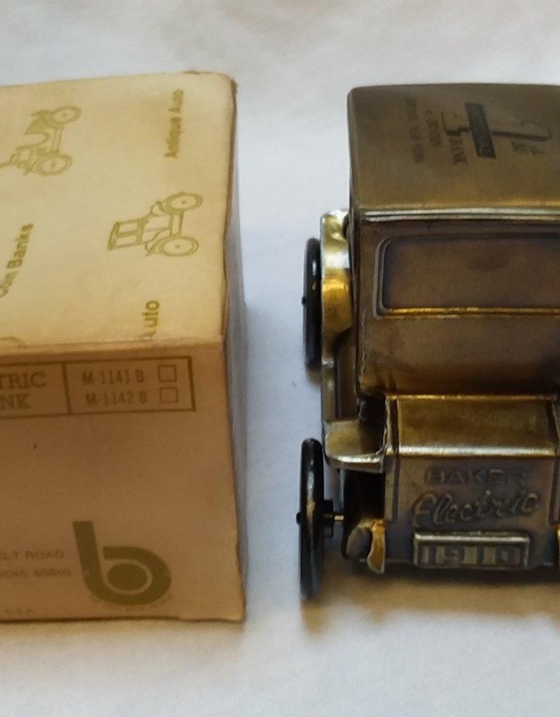 """1910 Baker Electric Auto Cast Bank, 4.75"""", 1970's"""