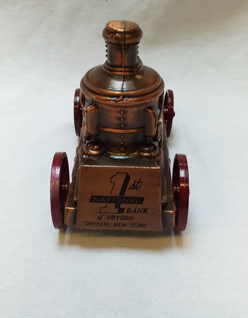"Early 1900's Fire Engine Coin Bank, 5.5"", 1970's"