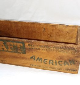 "Kraft 5 Lb Cheese Box w/Knob, 12""x4""x4"", c.1950"