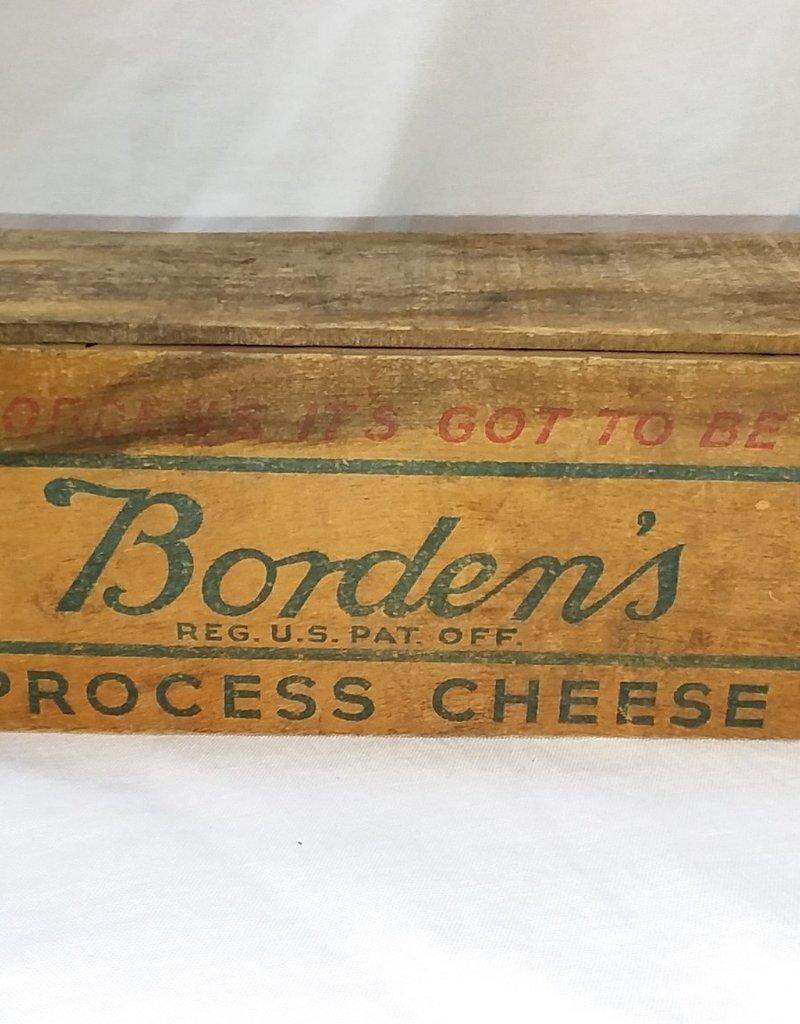 "Borden's Process Cheese Box, 5#, 11.5""x4""x4"", c.1950"