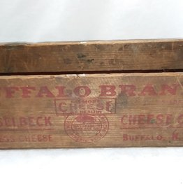 "Buffalo Brand Hasselbeck Cheese Co. Box, 5#, 11.5""x4""x4"", c.1950"