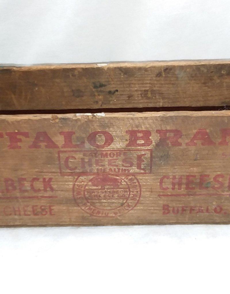 "Buffalo Brand Hasselbeck Cheese Co. Box, 5#, 11.5""x4""x4"", c.1950"