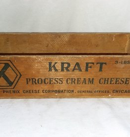 "Kraft Process Cream Cheese Box, 3#, 10.75""x3.5""x3"", c.1950"