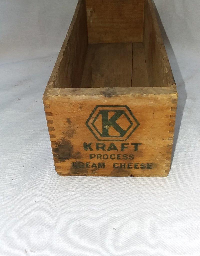 "Kraft Process Cream Cheese Box, 3#, 10.75""x3.5""x3"", c.1950"