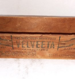 "Velveeta Pasteurized Cheese Box, 2#, 9""x3""x2.5"", C.1940"