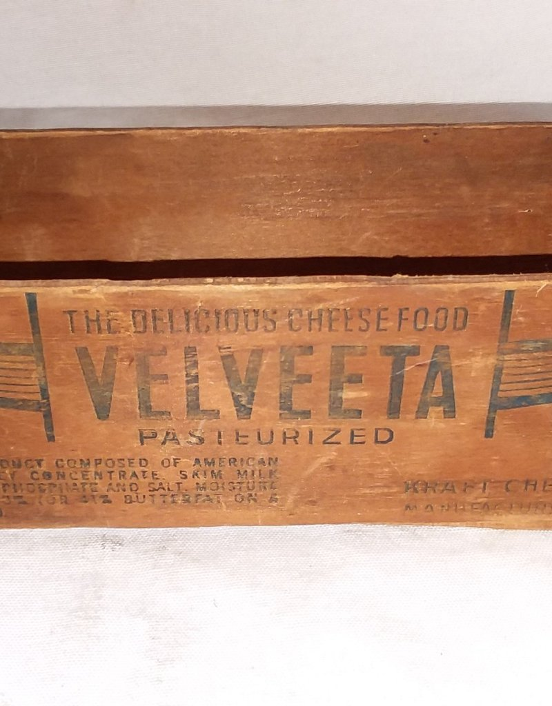 """Velveeta Pasteurized Cheese Box, 2#, 9""""x3""""x2.5"""", C.1940"""
