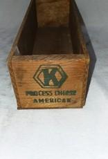 "Kraft American Cheese Box, 2#, 9""x3""x2.5"", c.1950"