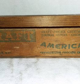 "Kraft American Cheese Box, 2#, 9""x3""x2.5"", c.1950"