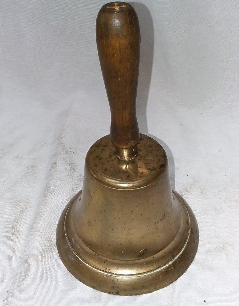 """Brass Schoolmaster's Brass Bell, 7"""", c.1960"""